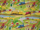 *Choose design* Steam train the little engine that could cotton quilting fabric