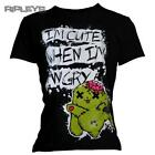 POIZEN EVIL Top T Shirt LUV BUNNY I'm Cute When I'm ANGRY Zombie