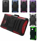 For Nokia Lumia Icon 929 Robotic Multi Color Hard Hybrid Holster Protector Stand