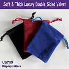 Luxury 100 Double Sided Velvet Gift Pouch-7x9cm-Rectangle-Color Choices