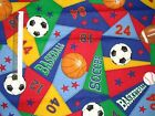 *Choose design* Sports theme ball football baseball cotton quilting fabric *size