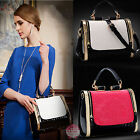 Fashion Retro Style Lady Vintage Faux Leather Tote Handbag Portable Shoulder Bag