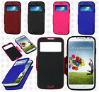 For Samsung Galaxy S4 S IV Premium Hybrid Side Flip Protector Phone Case Cover