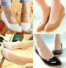 Womens Spring New Patent Round Toe Wedge Mid Heel Pumps Court Party Shoes 5202