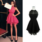 Sexy Women Sleeveless Chiffon Cocktail Ball Club Party Evening Short Mini Dress