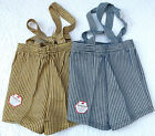 Vintage childrens shorts with shoulder straps 1950s UNUSED Age 4 years Boy girl