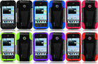 Huawei Ascend Y215 Y210D Faceplate Phone Cover Case Tstand + Screen Protector