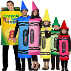 Crayola Fancy Dress Costume Crayons Book Week Hat Gents Male Female Womens Kids