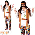Woodstock Hippie 1960s Mens Fancy Dress Hippy 1970s Adult 60s 70s Costume Outfit