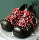 Goth Punk Cosplay Visual Kei D Ring Platform Heel Black Clog Sneaker Red Lace