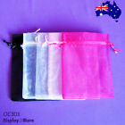 200 Organza Jewellery Gift Pouch Bag-12x16cm-5 Colours-New