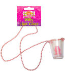 Pink Willy Shot Glass Necklace - Hen Girls Night Out Party - Choose Any Amount