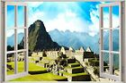 Huge 3D Window view Enchanted Monument Wall Sticker Film Art Decal Wallpaper
