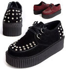 Hi Quanlity Suede Punk Rock Rockabilly Ripple Creeper Platform Stud Spike Stud