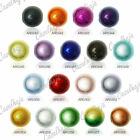 40pcs Loose Round Miracle Acrylic Spacer Beads Findings 8x8mm 18 Colours