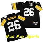 ROD WOODSON Pittsburgh STEELERS Home Black NFL Premier THROWBACK Jersey Size S-L