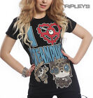 Poizen Evil Clothing Ladies T Shirt KILLER PANDA Heart Steampunk All Sizes