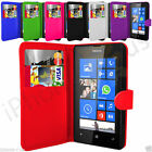 7 Colour PU Leather Wallet Flip Phone Case Cover Skin For Nokia Lumia 520