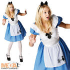 Alice in Wonderland Official Fairytale Fancy Dress Ladies Costume Outfit UK 8-16
