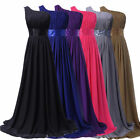 Hot Lady Chiffon Slim Ruched Long Maxi One Shoulder Evening Party Cocktail Dress