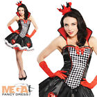 Queen of Hearts Ladies Alice in Wonderland Fancy Dress Adults Storybook Costume