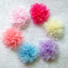12pcs Big Chiffon Flowers 12cm Silk Peony Baby Kids Hair accessory for Headbands