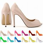 New Womens Wedding Sexy Peep Toe High Heels Sandals Pumps Work shoes UK 2-9