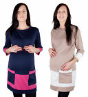 MIJA / Elegant Maternity Tunic / dress with two pockets size 8, 10, 12, 14