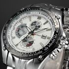 FASHION MENS WATCHES STAINLESS STEEL SPORT QUARTZ ANALOG DATE HOURS WRIST WATCH