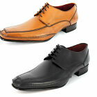 MENS LOAKE FORMAL LEATHER SHOES IN BLACK AND TAN HURST F FIT