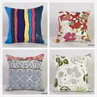 1pc Vintage Cotton Linen Cushion Cover Pillow Case Home Decor Colorful Floral