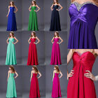 Multi-Color Elegant Lady Long Chiffon Formal Evening Ball Gown Party Dress IN UK