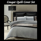 COUGAR Grey Black Silver - Sequined Quilt Cover Set - SINGLE DOUBLE QUEEN KING