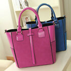 CHIC 2014 NEWLY Women Matte Polyurethane Leather Splicing Tote+Messenger Bag