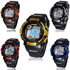 Boy Digital LED Quartz Alarm Date Sports Waterproof Wrist Watch New Reliable