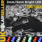 10/50pcs 3mm 5mm LED Round Top Ultra Bright Water Emitting Diode Lamp Throwies