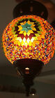 Turkish Hanging Glass & Bronze Mosaic Lantern ***Various Colours Available