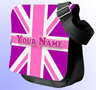 PERSONALISED GB PINK UNION JACK FLAG SHOULDER / HAND BAG *Choice of colour's*
