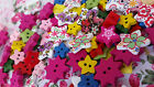 Lucky Dip BUTTON Packs 10 or 25 buttons Wooden♥Plastic♥Kids♥Xmas♥heart+more!!