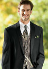 NEW 2XL-Tall Mens Mossy Oak Camo Tuxedo Vest/Tie/Hankie Break Up Formal 2XLT