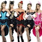 Burlesque Dancer + Tights Ladies Fancy Dress Moulin Rouge Can Can Womens Costume