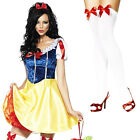 Snow White Fever Fairytale Fancy Dress Adult Book Ladies Costume Outfit UK 6-18