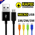 5x Micro USB Charger Cable for Samsung Galaxy S7 Edge S6 Plus S5 S4 Note 5 4 HTC