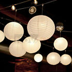 "5 10 PCS Round White LED Paper Lanterns Lamp for Wedding Party Decor 6"" 8"" 10"""
