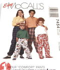 McCalls Childrens 2-14 Unisex Pull-On Pants