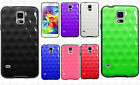 For Samsung Galaxy S5 TPU Hard GUMMY Hybrid Rubber Skin Case Phone Cover Circle