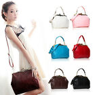 Retro Vintage Ladies Women Shoulder Satchel PU Leather Handbag Cross Body Totes