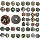5PCs Snap Buttons Fit DIY Bracelets Mixcolor Bronze Tone 20mm M2375