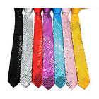 2014 New Unisex Punk Sequin Skinny Slim Necktie Neck Ties Plain party show