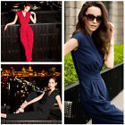 2014 Vintage V Neck Casual Formal Party Cropped Jumpsuit Rompers Tops Long Pants